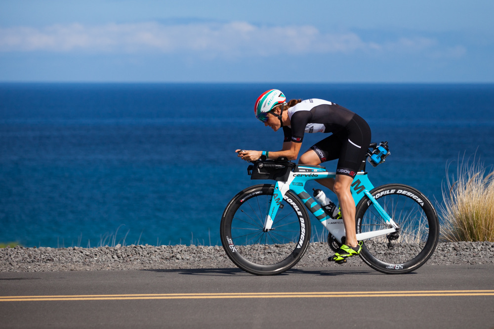 Astrid competing in the IRONMAN World Championship Hawaii